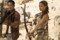 Alicia Vikander and Daniel Wu in a still from the film Tomb Raider (category: IIB), directed by Roar Uthaug.