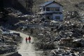 Miyako, Iwate prefecture, pictured one month after the earthquake and tsunami in 2011. Photo: Reuters