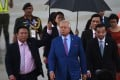 Will Najib Razak be able to weather the storm of rising food prices? Probably. Photo: AFP