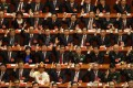 When China's lawmakers line up to cast their votes on controversial changes to the constitution on Sunday, it will no doubt have all the appearance of a staged political show. Photo: AP