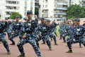 Chinese students have to undergo a month of compulsory military training. Photo: Alamy