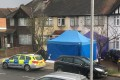 Police activity at a residential address in southwest London on Tuesday where Russian businessman Nikolai Glushkov, who is associated with a prominent critic of the Kremlin, was reportedly found dead on Monday night. Photo: AP