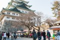 Tourists visiting the Nagoya Castle. Japan's tourism boom has created a shortage of accommodation facilities. Photo: Shutterstock