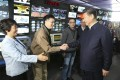 Xi Jinping shakes hands with staff in the control room of China Central Television in Beijing during a high-profile tour of the top three state media outlets in 2016. Photo: Xinhua via AP
