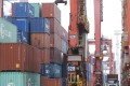 Containers being stacked at Hongkong International Terminals. Photo: K. Y. Cheng