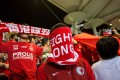 Hong Kong fans are notorious for booing the national anthem at soccer matches. Photo: AFP