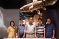 Members of the South Java Deep-Sea Biodiversity Expedition 2018 include (from left) Ms Iffah Binte Iesa, expedition consultant Dr Bertrand Richer de Forges, the Singapore team's chief scientist Prof Peter Ng, expedition consultant Prof Chan Tin-Yam from National Taiwan Ocean University, and Dr. Jose Christopher Escaño Mendoza. Photo: National University of Singapore