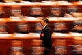 President Xi Jinping walks to deliver his speech at the closing session of the National People's Congress at the Great Hall of the People in Beijing, on March 20. Photo: Reuters