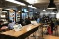 The start-up cafe at Fukuoka Growth Next. Photo: Takehiro Masutomo