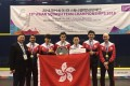 Hong Kong's men's squash team celebrate their victory at the Asian Team Championships in South Korea. Photos: Handout