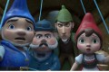 Gnomeo (voiced by James McAvoy), Dr Watson (Chiwetel Ejiofor), Sherlock (Johnny Depp) and Juliet (Emily Blunt) in a still from Sherlock Gnomes, (category: I, English and Cantonese), directed by John Stevenson. Photo: Paramount Pictures and Metro-Gol