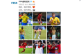 A collage of tattooed players posted on Fifa's weibo account. Photo: Fifa Weibo