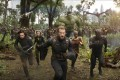 Chris Evans (front) leads his crew in a still from Avengers: Infinity War.