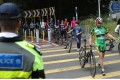Police officers were seen on Friday on a popular track running from Sha Tin to Ma On Shan. Photo: Sam Tsang