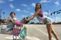 Bria Vinaite (right) and Brooklynn Prince as mother and daughter in a still from The Florida Project (category IIB), directed by Sean Baker. Willen Dafoe co-stars.