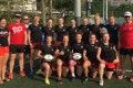 The Poland women's sevens team before training at Happy Valley. Photos: Sam Agars