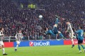 Real Madrid's Cristiano Ronaldo scores his side's second goal during the UEFA Champions League quarter final first leg soccer match against Juventus. Photo: EPA