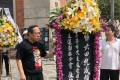 Albert Ho (left) attends the ceremony in Tsim Sha Tsui. Photo: RTHK