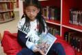 Eight-year-old Annabel Yue has already written three books. Photo: Xiaomei Chen