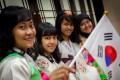 Indonesian university students at the Jakarta Korean Cultural Centre.