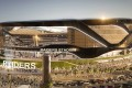 Imagine something like this on the Kai Tak waterfront: the new Raiders stadium being built in Las Vegas has a huge glass curtain that opens on to the renowned Vegas strip. Photo: Handout