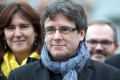 Catalan leader Carles Puigdemont, pictured in January, has been granted bail by a court in Berlin, which ruled that Spain's rebellion charge against him was not punishable under German law. Photo: AP