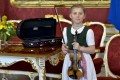 Seven-year-old Anna Caecilia Pfoess will be a musical ambassador to represent Austria on a visit to China. Photo: AFP