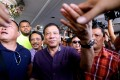 Rodrigo Duterte greets supporters during his successful campaign for president of the Philippines in 2015. Photo: AP
