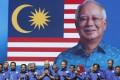 Malaysian Prime Minister Najib Razak at the launch of his campaign. Photo: AP