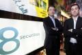 8 Securities' executive chairman Mathias Helleu (L) and CEO Mikaal Abdulla. Photo: Paul Yeung