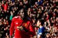 Manchester United's Romelu Lukaku celebrates scoring against Chelsea. Photo: Reuters