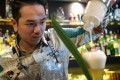 Antonio Lai makes a Morning Dew non-alcoholic cocktail at The Envoy in Central. Photo: Winson Wong