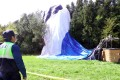 The balloon was carrying 12 passengers and a pilot – who suffered a head injury and was later pronounced dead