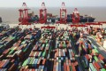 Despite a slight drop in March, China still recorded a trade surplus in the first quarter of the year. Photo: Chinatopix via AP