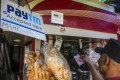 A Paytm sign at a stall selling snacks in Bangalore, India. Photo: Bloomberg