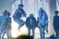BTS performing at the 2017 American Music Awards in Los Angeles. The band have just announced the release date of their new album, Love Yourself: Tear. Photo: Reuters