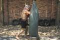 Bokator grandmaster San Kim Sean training at his academy in Siem Reap. Photo: Enric Catala