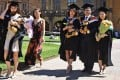 Chinese graduates at Sydney University in Australia. A record 600,000 Chinese students studied abroad last year, according to the country's Ministry of Education. Photo: AFP