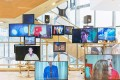 A hi-tech television screen installation inside the newly opened Dover Street Market Beijing store. Photo: Elaine YJ Lee/Hypebeast Korea