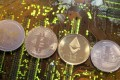 Ripple, bitcoin, etherum and litecoin comprise the lion's share of the crypto asset market. Illustration: Reuters