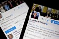 The Twitter accounts of US President Donald Trump, @POTUS and @realDonaldTrump. Trump posted almost 26,000 tweets in his first year in office. Photo: Bloomberg