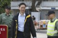 Former Hong Kong stock exchange official Francis Kwan did not take questions from reporters as he left Stanley Prison. Photo: Sam Tsang