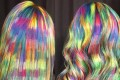 Ursula Goff, of Wellington, Kansas, has received national attention for her rainbow hairstyles. Photo: courtesy of Ursula Goff