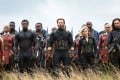 Some of the heroes in 'Avengers: Infinity War'. Front row, left to right: Okoye (Danai Gurira), Black Panther (Chadwick Boseman), Captain America (Chris Evans), Black Widow (Scarlett Johansson) and Winter Soldier (Sebastian Stan). Photo: Marvel Pictures
