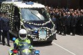 The funeral for senior constable Lum Hoi-wan was held at Universal Funeral Parlour. Photo: K.Y. Cheng