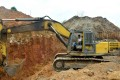 In this photograph taken on April, a Chinese employee of a mining company operates a bulldozer at a mining site in the Cameroon town of Betare Oya. Photo: Agence France-Presse