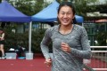 Star Hong Kong hurdler Vera Lui Lai-yiu at her first 100m race since talking about being a victim of sexual abuse, at the Wan Chai Sports Ground on April 15. Lui shared her ordeal in a #MeToo post on Facebook in November. Photo: Jonathan Wong