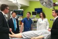 From left, Dr. Gerald Brandacher; Dr. W.P. Andrew Lee; Dr. Richard Redett; Carisa Cooney, assistant professor of plastic and reconstructive surgery; and Dr. Damon Cooney after the world's first transplant of a penis and scrotum. The recipient wasa wounded US soldier. Photo: Johns Hopkins Medicine