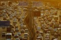A general view shows traffic during rush-hour in Tianjin, China. Photo: AFP