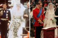 The weddings of Charles and Diana in 1981 and of William and Kate in 2011. Photo: AFP